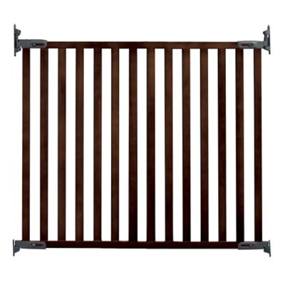 Kidco® Wood Angle Mount Safeway® Gate In Espresso