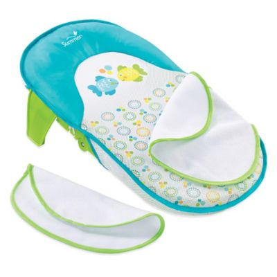 summer infant bath tub sling with warming wings in bluegreen
