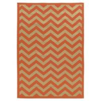 Linon Home Innovations 6-Foot 6-Inch x 9-Foot 6-Inch Reversible Indoor/Outdoor Rug in Rust