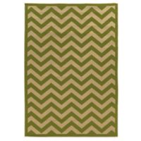 Linon Home Innovations 6-Foot 6-Inch x 9-Foot 6-Inch Reversible Indoor/Outdoor Rug in Green