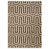 Linon Home Roma Collection Tangent 2-Foot x 3-Foot Accent Rug in Chocolate