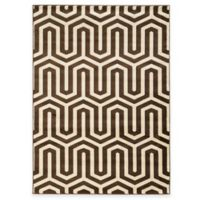 Linon Home Roma Collection Tangent 5-Foot 3-Inch x 7-Foot Runner in Chocolate