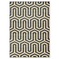 Linon Home Roma Collection Tangent 8-Foot x 10-Foot Area Rug in Grey