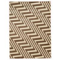 Linon Home Zigzag 5-Foot 3-Inch x 7-Foot Rug in Ivory/Beige