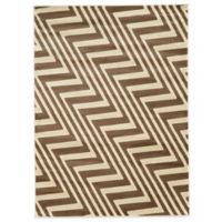 Linon Home Zigzag 5-Foot 3-Inch x 7-Foot Rug in Ivory/Beige