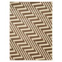 Linon Home Zigzag 8-Foot x10-Foot Rug in Ivory/Beige