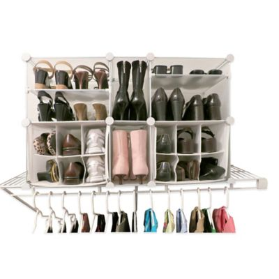 Luxury Living Modular Shoe Organizer In Clear/White