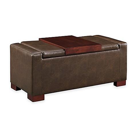 davis lift top storage ottoman bed bath beyond. Black Bedroom Furniture Sets. Home Design Ideas