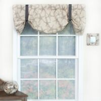 RL Fisher Cotton Ocean Star Tie-Up Window Valance in Grey