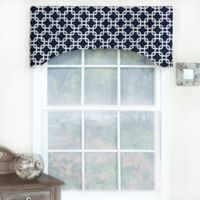 RL Fisher Chained Arch Window Curtain Valance in Navy