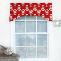 RL Fisher Claws-N-Tails Arch Window Curtain Valance in Red