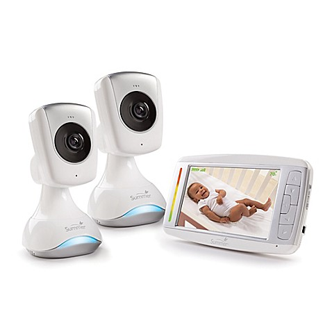 summer infant sharp view hd duo 5 inch color lcd video baby monitor buybuy baby. Black Bedroom Furniture Sets. Home Design Ideas