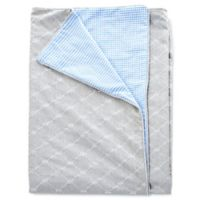 Glenna Jean Starlight Twin Reversible Duvet Cover in Grey/Blue/White
