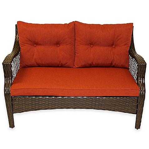 Stratford 3 Piece Outdoor Replacement Loveseat Cushion Set Bed Bath Beyond