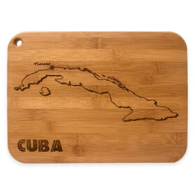 totally bamboo etched cuba cutting board