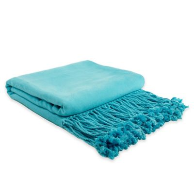 Buy Aqua Throw Blanket From Bed Bath Amp Beyond