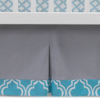Lambs & Ivy® Mix & Match Ryan Pleated Crib Skirt in Grey