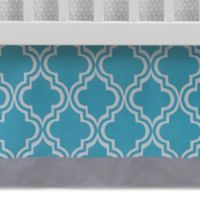 Lambs & Ivy® Mix & Match Ryan Moroccan Print Crib Skirt in Teal