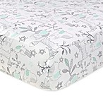 Just Born® Mix & Match Classic Collection Woodland Animals Fitted Crib Sheet in Aqua