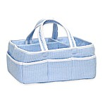 Trend Lab® Diaper Caddy in Blue Gingham Seersucker