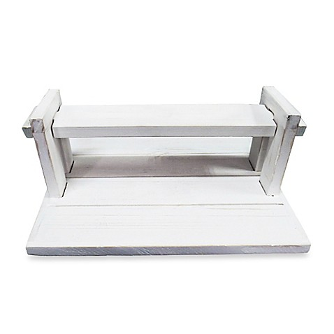 White wood napkin holder bed bath beyond for Bathroom napkin holder