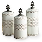 American Atelier 3-Piece Quatra Canister Set in White
