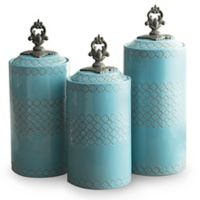 American Atelier 3-Piece Quatra Canister Set in Blue