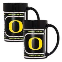 University of Oregon Metallic Coffee Mugs (Set of 2)