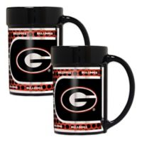 University of Georgia Metallic Coffee Mugs (Set of 2)