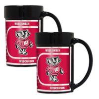 University of Wisconsin Metallic Coffee Mugs (Set of 2)