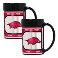 University of Arkansas Metallic Coffee Mugs (Set of 2)