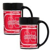 University of Nebraska Metallic Coffee Mugs (Set of 2)