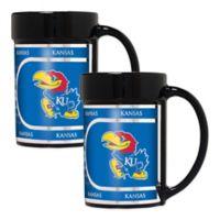 University of Kansas Metallic Coffee Mugs (Set of 2)