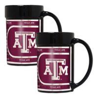 Texas A&M University Metallic Coffee Mugs (Set of 2)