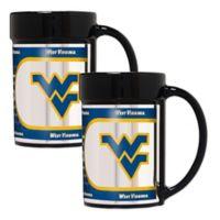 West Virginia University Metallic Coffee Mugs (Set of 2)
