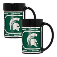 Michigan State University Metallic Coffee Mugs (Set of 2)