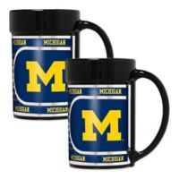 University of Michigan Metallic Coffee Mugs (Set of 2)
