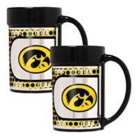 University of Iowa Metallic Coffee Mugs (Set of 2)