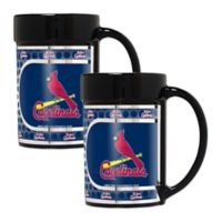 MLB St. Louis Cardinals Metallic Coffee Mugs (Set of 2)