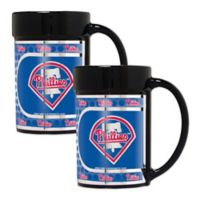 MLB Philadelphia Phillies Metallic Coffee Mugs (Set of 2)