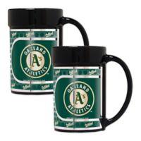MLB Oakland Athletics Metallic Coffee Mugs (Set of 2)