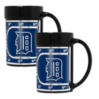MLB Detroit Tigers Metallic Coffee Mugs (Set of 2)