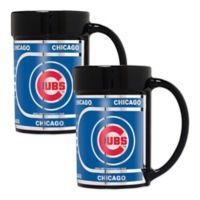MLB Chicago Cubs Metallic Coffee Mugs (Set of 2)