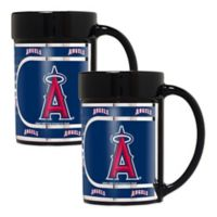 MLB Los Angeles Angels Metallic Coffee Mugs (Set of 2)