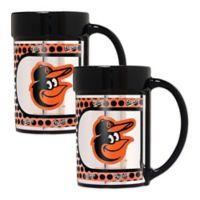 MLB Baltimore Orioles Metallic Coffee Mugs (Set of 2)