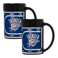 NBA Oklahoma City Thunder Metallic Coffee Mugs (Set of 2)