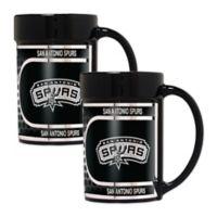 NBA San Antonio Spurs Metallic Coffee Mugs (Set of 2)