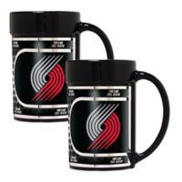 NBA Portland Trail Blazers Metallic Coffee Mugs (Set of 2)