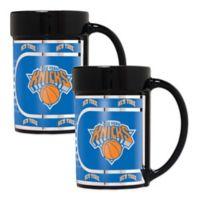 NBA New York Knicks Metallic Coffee Mugs (Set of 2)
