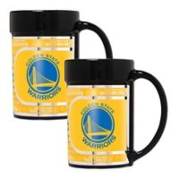 NBA Golden State Warriors Metallic Coffee Mugs (Set of 2)